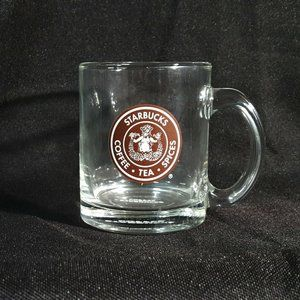 Starbucks Coffee Tea Spices 2008 Glass Mug Brown